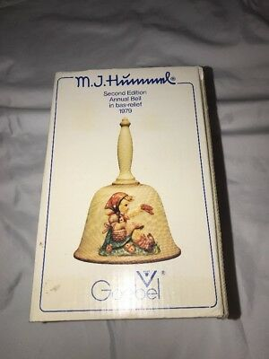 Vtg M. J. Hummel  Annual Bell Second Edition 1979 Goebel  Made In W. Germany