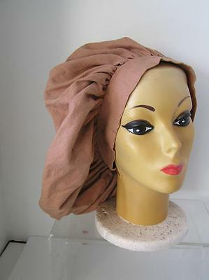 Vintage Floppy Beige French oversized Chef Hat
