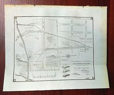 1900 Sketch Map Department of Public Roads Cuba Matadero Road