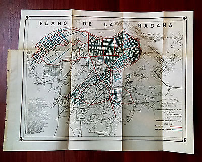 1900 Engineering Dept City of Habana Cuba Survey Map of Street Grades