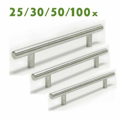 """Stainless Steel Brushed Nickel Kitchen Cabinet Handle T Bar Pull Hardware 4 5 6"""""""