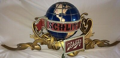 Vintage Schlitz Globe Motion Light Up Bar Sign