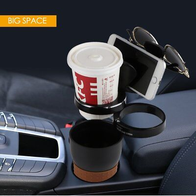 Rotatable 5 in 1 Hider Auto Car Cup Holder Case Glasses Bottle Storage Organizer