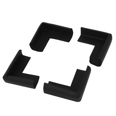 Table Cupboard Worktop Corner Cover Protector Cushion 4 Pcs Black Y5J4