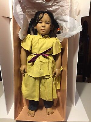 Michiko Barefoot Children The World Child Collection Doll Annette Himstedt NIB