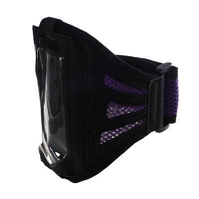 Outdoor Gym Sport Running Adjustable Armband Case Cover for iPhone6 Purple C3E8