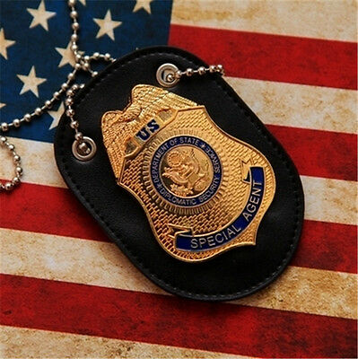 US Special Agent Badge D.S.S Fast Furious Luke Hobbes Badge With Holder Movie
