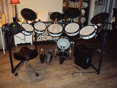 Roland TD-10 Expanded TDW-1 V-Drums Electronic Drum Set Iron Cobra Double Kick