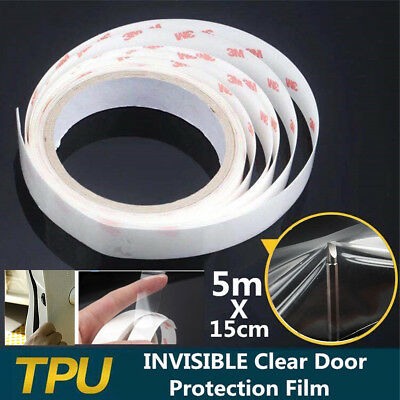 Clear Car Door Sill Edge Paint Anti-Scratch Protection Film Sticker Transparent