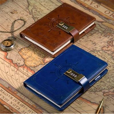 Journals Notebook PU Leather With Code Lock Secret Diary Kids N7