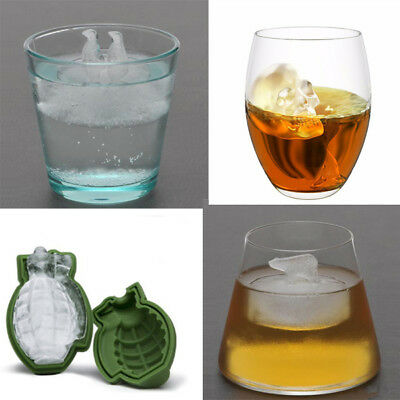3D Ice Ball Cube Whiskey Tray Brick Round Maker Mold Sphere Mould Bar Silicone