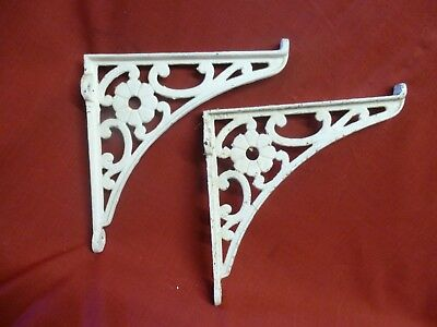 "Reclaimed Pair of Vintage Cast Iron 10"" Shelf Brackets"