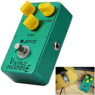 JOYO JF-01 Vintage Overdrive Guitar Effect Pedal with RC4558 Chip Aluminum Alloy