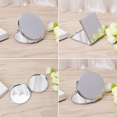 Portable Hand Pocket Various Shapes Double Folded-Side Stainless Steel Mirror