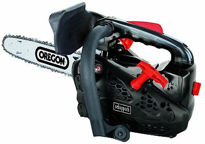 "26cc 10"" Scheppach Petrol Top Handle Chainsaw. Topping Chain Saw"