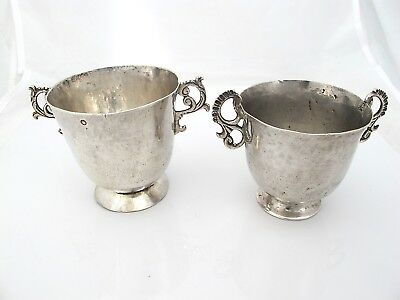 Two similar amazing 18th C Spanish Colonial cups c 1780