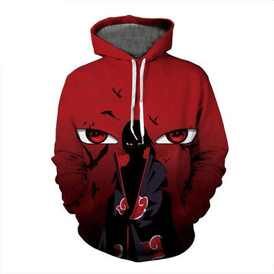 3D Men Women Sweatshirt Anime Naruto Hoodies Itachi Uchiha Mangekyou Sharingan