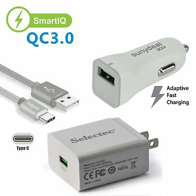 Fast Charging Wall Charger&USB Type C Data Cable Cord For LG G5 G6 V20
