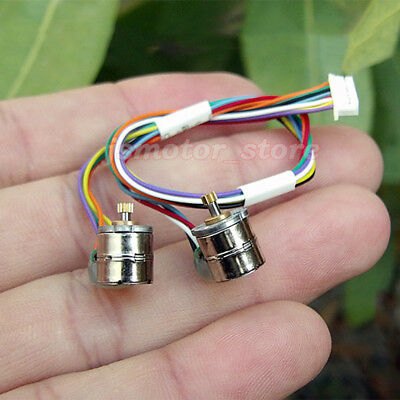 2PCS 2-Phase 4-Wire Micro 8mm Stepper Motor Mini Stepping Motor Copper Gear DIY
