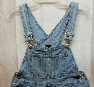 Gap Blue Jean Denim Boy Child Overalls Shorts XL Worn Faded Spots  - C112