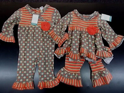 Infant Girls Tara Collection Gray 24m Orange /& Yellow Outfits Size 12m