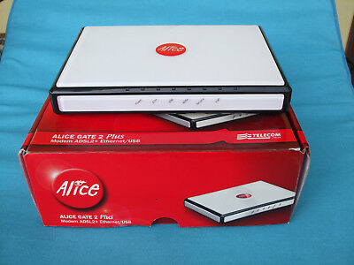 Modem Alice gate 2 plus ADSL2+ethernet/usb NO wi fi nuovo