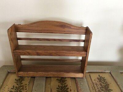 Vintage Good Wood Apothecary Spice Rack Jars Kitchen Wall Mount