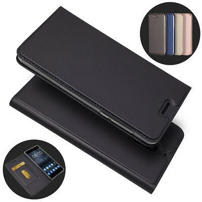 For Nokia 2 3 5 6 8 Magnetic Slim Flip PU Leather Wallet Stand Card Case Cover
