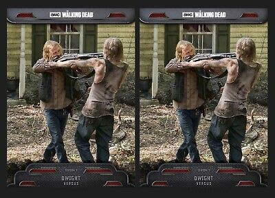 2x DWIGHT-TWD VERSUS-TOPPS WALKING DEAD CARD TRADER DIGITAL