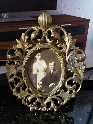 Antique Rococo Gilt Brass bronze Frame For Plaque Painting Picture Florentine