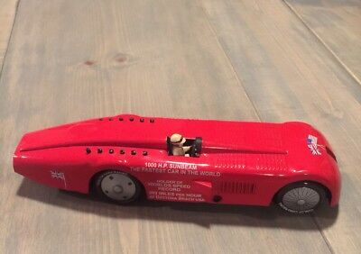 Sunbeam 1000 H.P Speed Record Race Red Car Holder Of World Speed Record Tin Toy