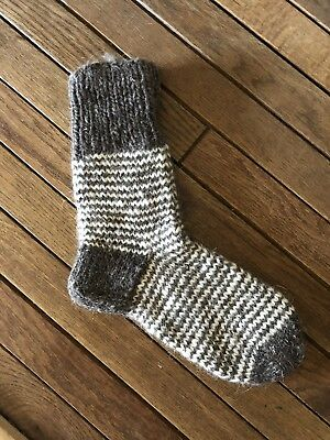 One Size Fits Most. Cozy And Warm Hand Knitted Unisex 100/% Genuine Wool Socks