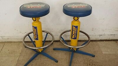 2 VINTAGE 1980's MONROE SHOCK ABSORBER COUNTER STOOLS CHAIRS