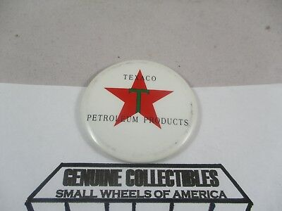 """Vintage"" TEXACO 2""x2"" PETROLEUM PRODUCTS RED STAR GREEN ""T"" ORIGINAL MAGNET"