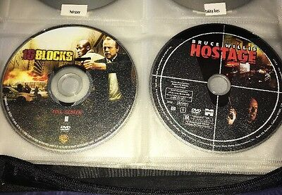 16 Blocks & Hostage Bruce Willis DVD Movie Lot Discs Only Action Movies