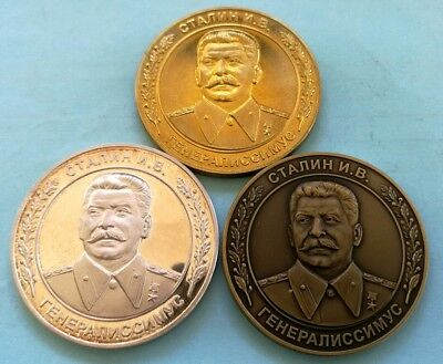 Russia 1979 SILVER PROOF: 1 oz. Medal 100 Anniversary of the Birth of STALIN  !