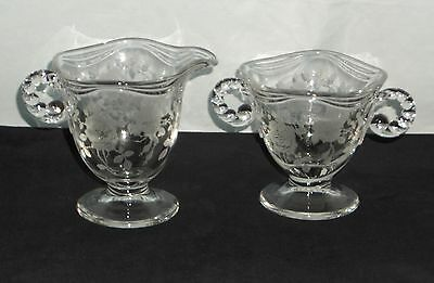 Fostoria WILLOWMERE CRYSTAL *CREAMER & SUGAR*