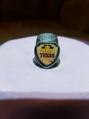 Vintage Dallas Texas Pewter Thimble