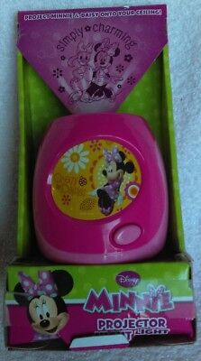 Disney Minnie Mouse & Daisy Duck Simply Charming Night Light projects on ceiling