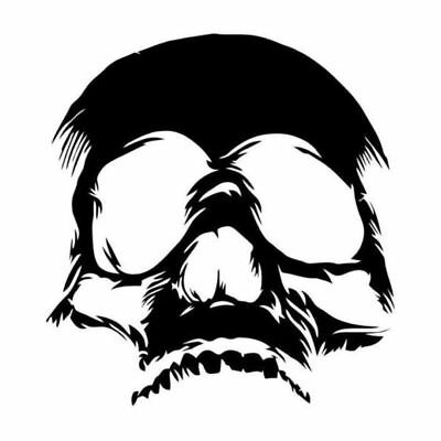 Terrible Evil Skull Face Car Stickers Funny Motorcycle Vinyl Decals Removable