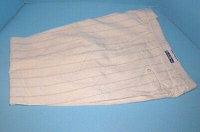 Vintage Men's Pants White Polyester 34 x 34 NEW OLD STOCK Disco Hipster Nerd USA
