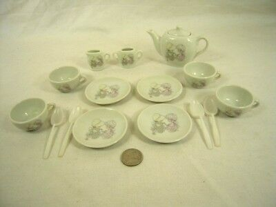 "COLLECTIBLE ""Precious Moments"" miniature doll Tea Set - complete with chips"