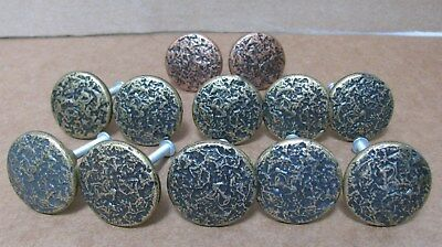 12 Vintage Round Door Knob Cabinet Drawer Pulls With Screws