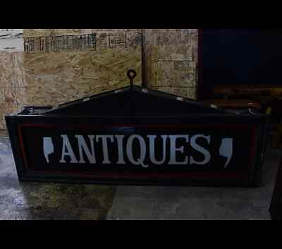 Antique 19th cty Tinwork Vaudeville Style Sign Bulbs