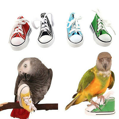 New Mini Canvas Shoes Bird Toys Parrot Cage Craft Cockatiel Hanging Foot Toys