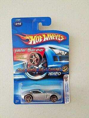 2005 Hot Wheels First Edition #016 Ford Shelby GR-1 Concept Faster Than Ever FT