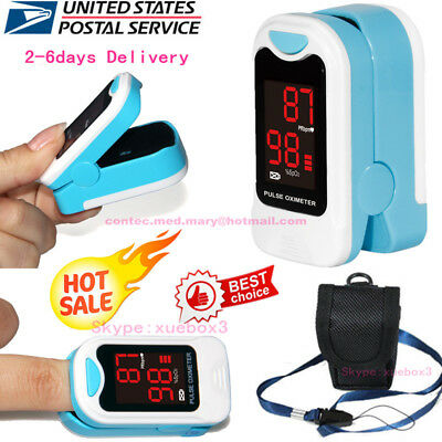 SPO2 PR LED Finger Tip Pulse Oximeter Blood Oxygen Saturation tester meter FDA