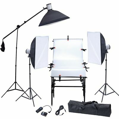 Photo Studio Overhead Boom Arm Light Stand with Tripod Clamp for Softbox Light