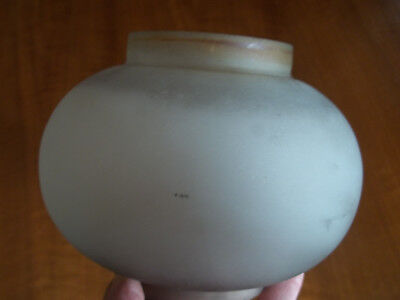 """Early 1900's Porch Sconce Salvaged Shade / Globe, Satin Glass, 3 & 3 1/8"""" Fitter"""