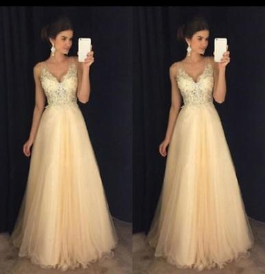 Women Formal Evening Party Cocktail Dress Sexy Bridesmaid Prom Ball Gown Long